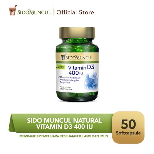 Foto Produk Sido Muncul Natural Vitamin D3 400 IU Soft Capsule 50 Kapsul dari Sido Muncul Store