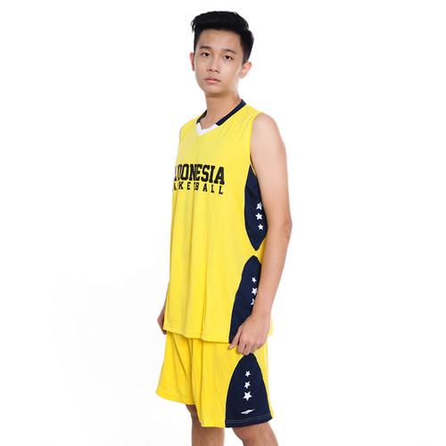 Foto Produk Proteam Jersey Indonesian BBall Yellow-Navy - M dari Proteam Indonesia
