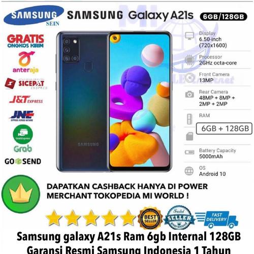 Foto Produk Samsung Galaxy A21S 6GB/128GB A21 S 6/128GB A 21S 6/128 RESMI Not A31 - silver dari MI WORLD