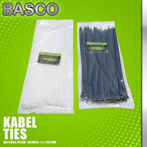 Foto Produk KABEL TIES 25 CM (3 X 250 MM)-BASCO dari Vegaz-Tools