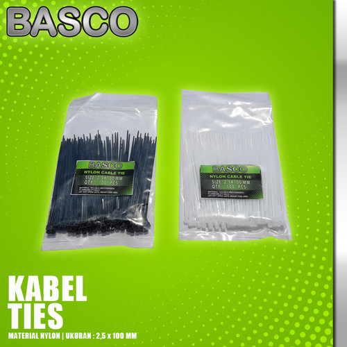 Foto Produk KABEL TIES 10 CM (2,5 X 100 MM) - Hitam dari Vegaz-Tools