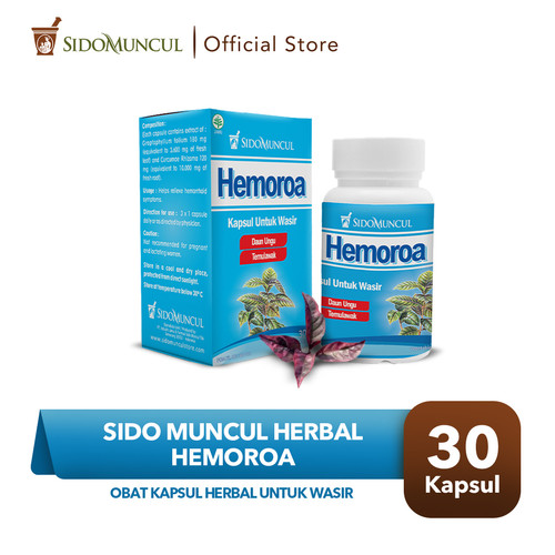 Foto Produk Sido Muncul Herbal Hemoroa 30 Kapsul - Wasir Pendarahan dari Sido Muncul Store