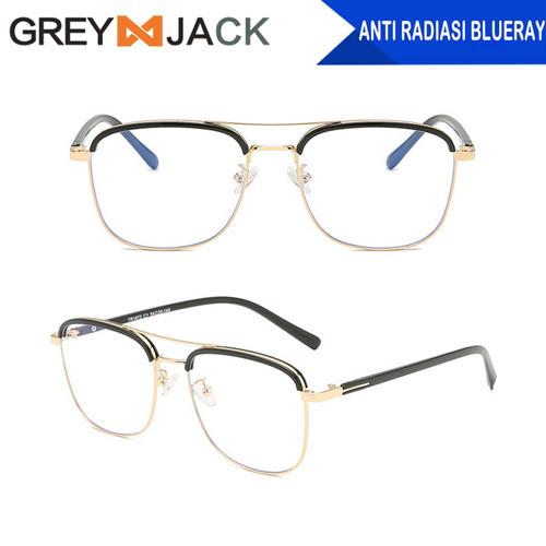 Foto Produk Grey Jack/kacamata anti radiasi blueray dewasa fashion TR90+metal 1872 - black gold dari Grey Jack