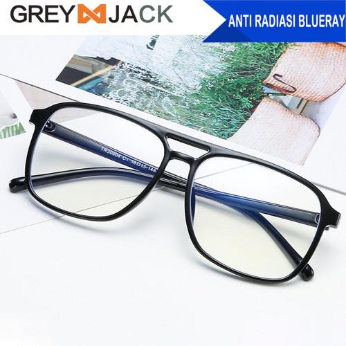 Foto Produk Grey Jack kacamata anti radiasi blueray dewasa TR90 30004 - black dari Grey Jack