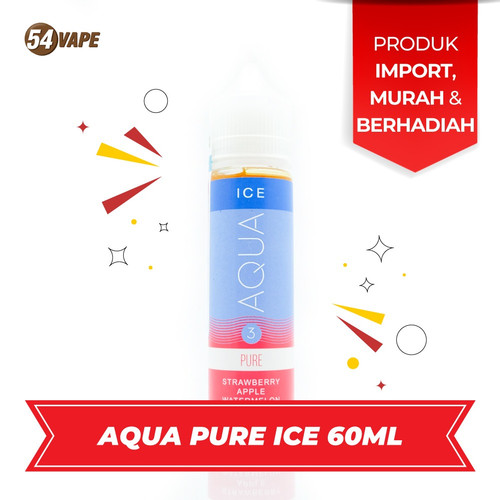 Foto Produk AQUA PURE ICE | PREMIUM LIQUID USA EJM 60ml 3mg | By. EJUICEMURAH dari 54vapeHQ