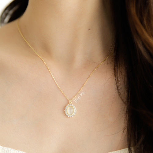 Foto Produk Dear Me - Sarah Necklace (925 Sterling Silver with 18K Gold Plated) dari Dear Me Jewelry