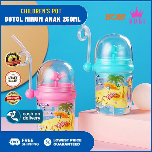 Foto Produk Botol Minum Anak - Botol Minum Anak Model Paus - Children's Pot 250ml - Abu-abu dari AbadinternasionalTrading