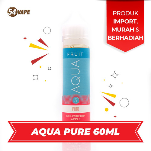 Foto Produk aqua 60ml nicotine 3mg liquid US by EJM strawberry apple watermelon dari 54vapeHQ