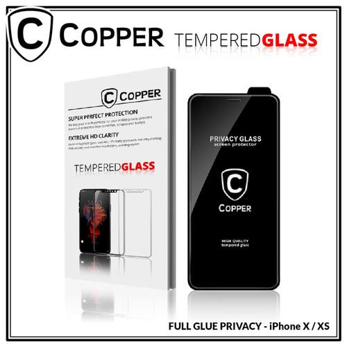 Foto Produk Iphone X / XS - COPPER Tempered Glass PRIVACY / ANTI SPY (Full Glue) - TG PRIVACY dari Copper Indonesia