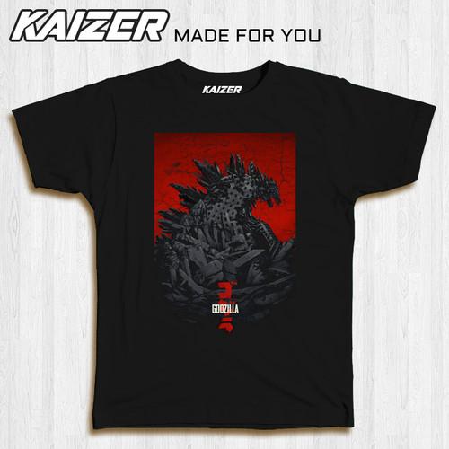Foto Produk KAIZER RH-0069 Kaos Godzilla Gojira Retro - Movie - Hitam, S dari KAIZER WEAR