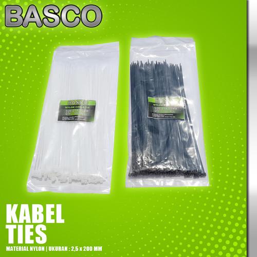 Foto Produk KABEL TIES 20 CM (2,5 X 200 MM)-BASCO dari Vegaz-Tools