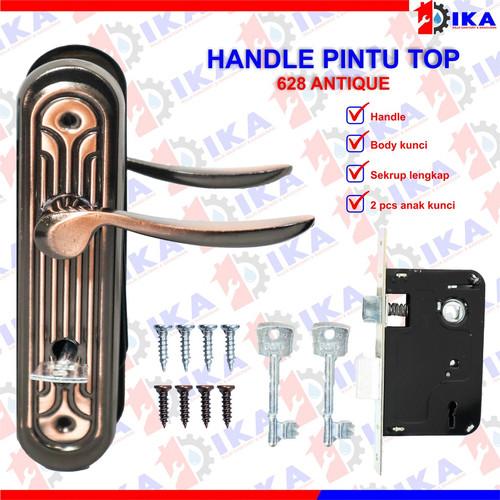 Foto Produk Kunci pintu TOP I-ISERIES Komplit set / gagang handle tarikan murah - TOP 628 ANTICUE dari Indokaryaabadi