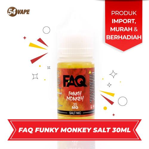 Foto Produk FAQ FUNKY MONKEY SALTNIC 35mg ELiquid USA dari 54vapeHQ
