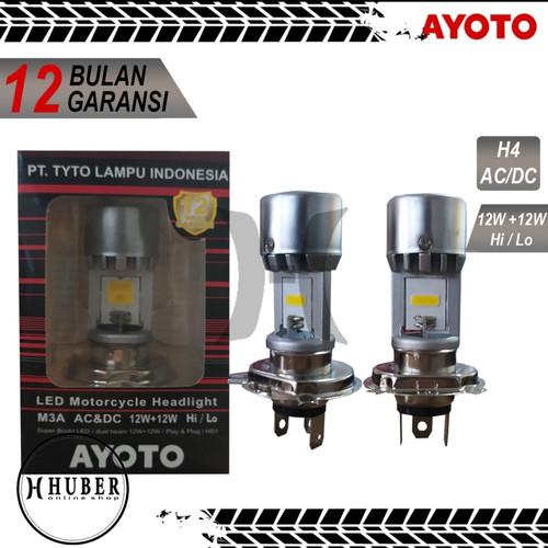 Foto Produk Lampu Motor Depan LED TYTO AYOTO M3A H4 AC DC Motor Vixion CBR Putih dari HUBER Online_Shop
