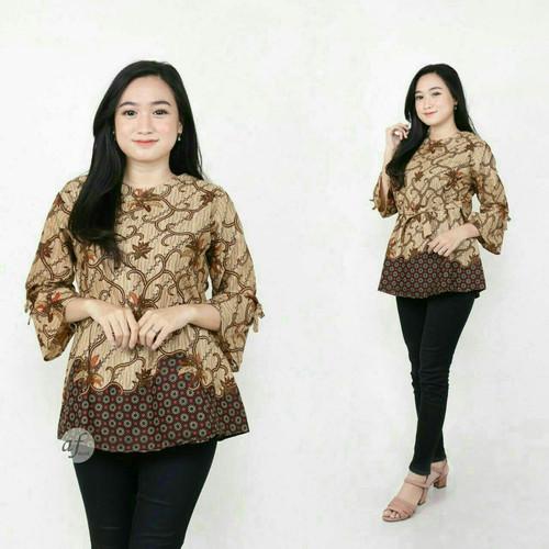 Foto Produk Baju Batik Blouse Atasan Wanita Motif Keong Mas dari LautanBatik