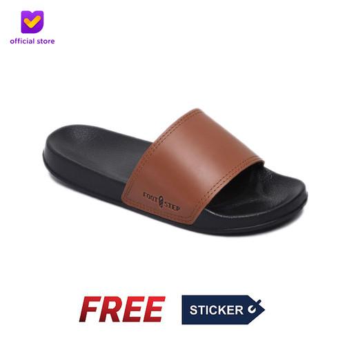 Foto Produk Sandal Slide Pria Footstep Footwear - Porto Brown - Cokelat, 40 dari Footstep Footwear