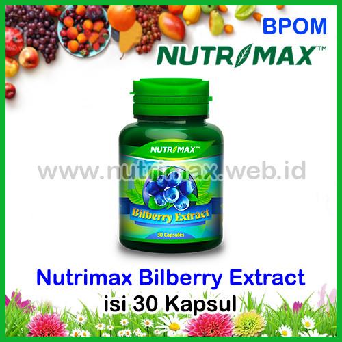 Foto Produk Nutrimax Bilberry Extract isi 30 Vitamin Untuk Kesehatan Mata Minus dari Nutrimax Online