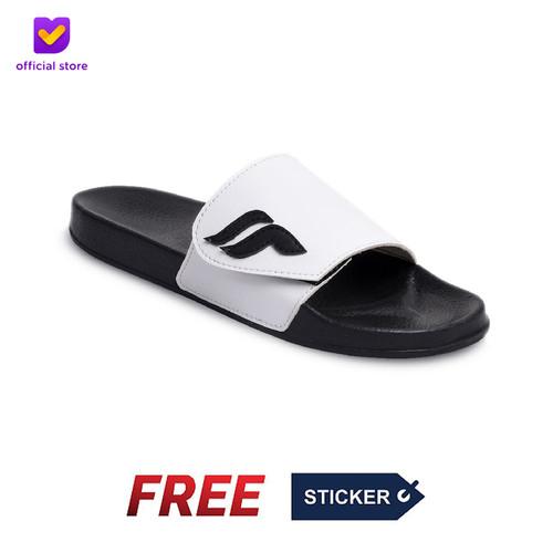 Foto Produk Sandal Slide Pria Footstep Footwear - Nexa White-Black - Putih, 41 dari Footstep Footwear