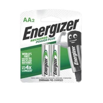Foto Produk Baterai Isi Ulang Energizer Recharge Power Plus 2000mAh AA (A2) 2 pcs dari MKA Official Store
