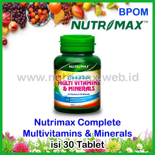 Foto Produk Nutrimax Complete Multivitamins & Minerals isi 30 Multivitamin Mineral dari Nutrimax Online