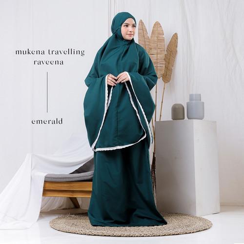 Foto Produk Mukena Dewasa Traveling Raveena - Emerald dari Beli Mukena