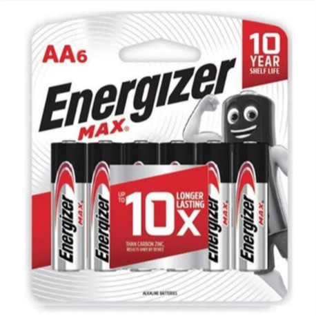 Foto Produk BATERAI BATRE ENERGIZER MAX AA6 ISI 6   AA dari MKA Official Store