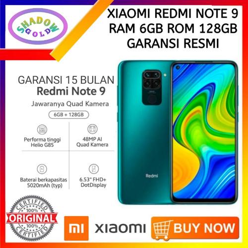 Foto Produk XiaoMi Redmi Note 9 6/128 RAM 6GB ROM 128GB GARANSI RESMI - GREEN dari Shadow Gold