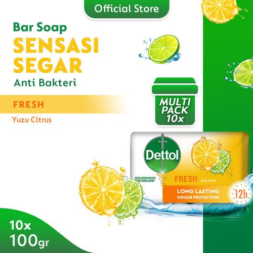 Foto Produk Dettol Barsoap Fresh 100 gr Super Hemat (Isi 10) dari Dettol Official Store