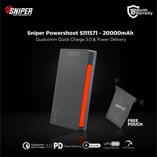 Foto Produk Sniper PowerShoot S111571 - 20000mAh - Flight Friendly Powerbank dari Sniper Indonesia