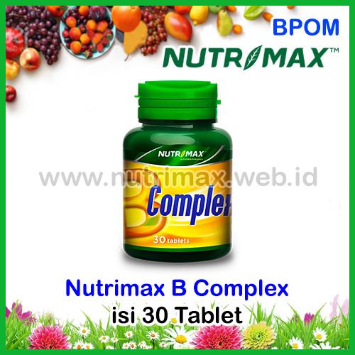 Foto Produk Nutrimax B Complex/Kompleks Vitamin Untuk Kesehatan Saraf/Syaraf Tubuh dari Nutrimax Online