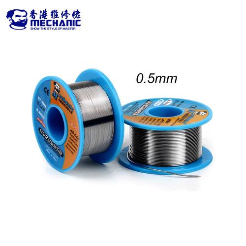 Foto Produk Mechanic Timah Gulung Export Solder Kawat Las Rosin Core Tin 0.5mm dari HOUSE SPAREPART