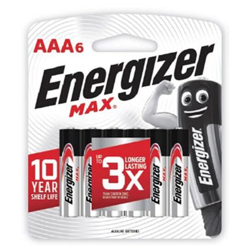 Foto Produk ENERGIZER MAX 6 x AAA A3 Battery Batere Batre Baterai isi 6 dari MKA Official Store