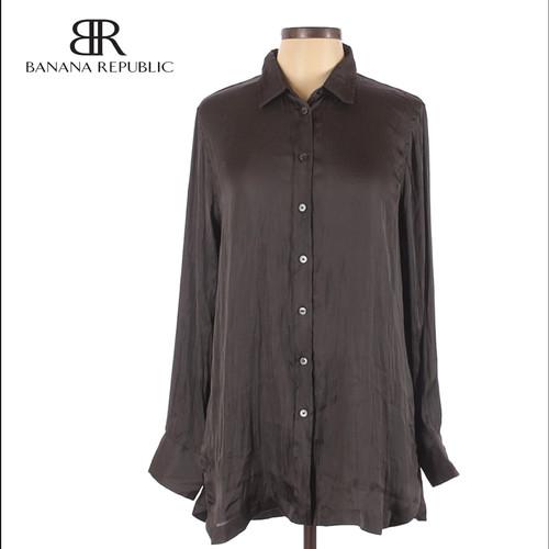 Foto Produk Blouse Wanita - Banana Republic Gray Long Sleeve Original - XS dari kenso collection