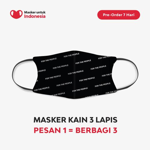 Foto Produk Masker untuk Indonesia x Not For People - Kain Scuba Full Printing dari Masker untuk Indonesia
