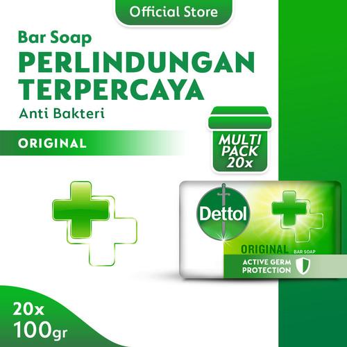 Foto Produk Sabun Batang Anti Bakteri Dettol Original 100g x 20pcs dari Dettol Official Store