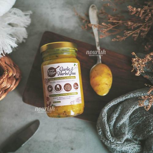Foto Produk Ghee Garlic & Herbs (Organic & Grass Fed Ghee Clarified Butter) 100 gr dari Nourish Indonesia