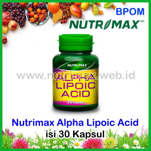 Foto Produk Nutrimax Alpha Lipoic Acid Penurun Kadar Gula Darah & Kolesterol (ALA) dari Nutrimax Online