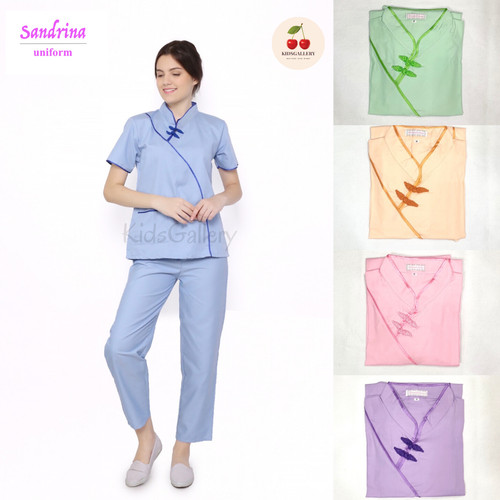 Foto Produk Baju seragam suster / seragam nanny/ seragam baby sitter (shanghai) - Pink, M dari KidsGallery
