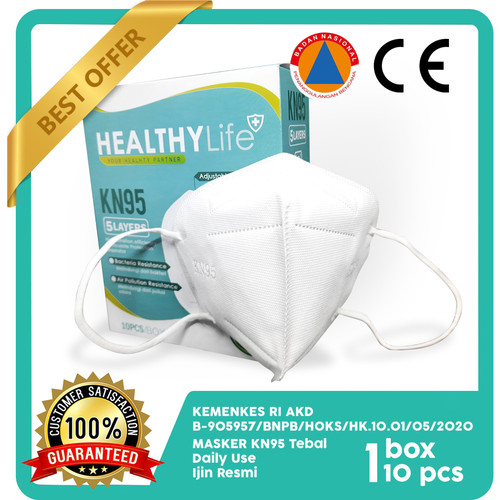 Foto Produk Healthylife mask KN95 5ply 10's dari Healthylife Official