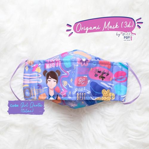 Foto Produk Origami Mask by Hellopop - Girl Quotes (Lilac) - Earloop dari HelloPop!