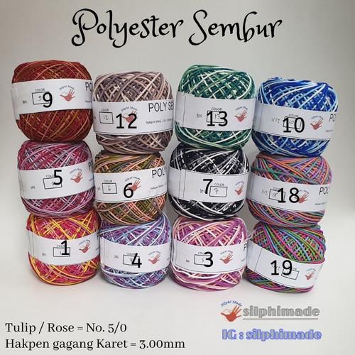 Foto Produk Poly SEMBUR Medium (Benang Rajut Polyester) dari Silphi Made