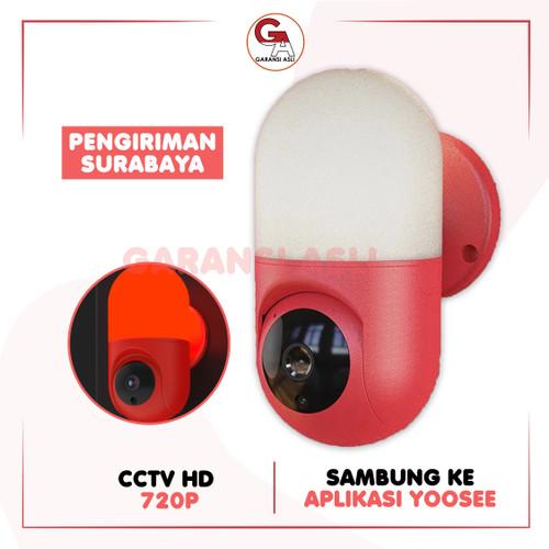 Foto Produk CCTV KAPSUL IP CAMERA YOOSEE FULL HD 1080P INDOOR LAMP INFRARED JERNIH - Merah dari garansi_asli