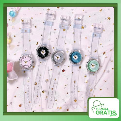 Foto Produk Semua Gratis - Jam Tangan Wanita Quartz Motif Bunga Daisy Kecil Strap - Hitam dari Semua Gratis
