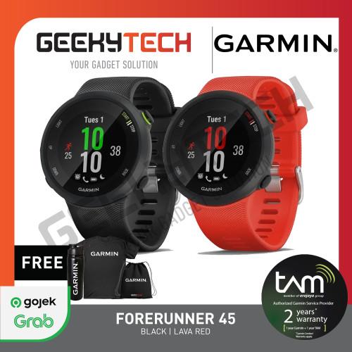 Foto Produk Garmin Forerunner 45 - Garansi Resmi TAM 2 Tahun - Hitam dari GeekyTech