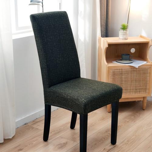 Foto Produk Elastic Chair Cover Plain / Penutup Sarung Kursi Bangku Elastis - Green Grid dari Le Carre