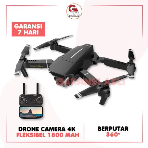 Foto Produk DRONE E68 4K ULTRA HD CAMERA PENDETEKSI FOKUS IMPORT HIGH QUALITY - Hitam dari garansi_asli