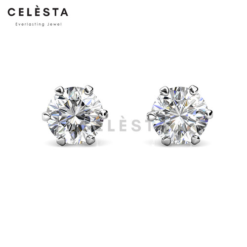Foto Produk Les Solitaire Earrings - Moissanite diamond Celesta by Her Jewellery dari Her Jewellery