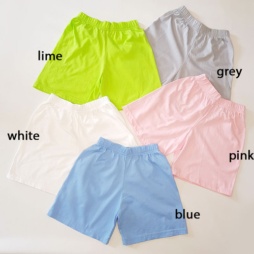 Foto Produk Celana Pendek Rumahan Anak - Hijau, S dari Little Orca
