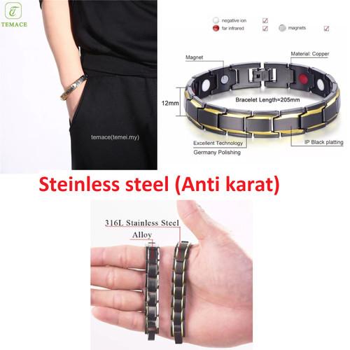 Foto Produk gelang tangan pria gelang kesehatan silver import murah berkualitas dari Satu Furniture Tangerang