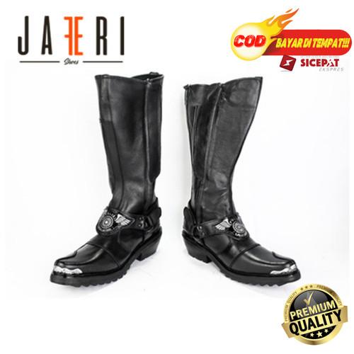 Foto Produk Sepatu PDL Tunggang Gepak Untuk Polisi Lalu Lintas BM Polantas Kulit - Hitam, 39 dari Sepatu Pantofel